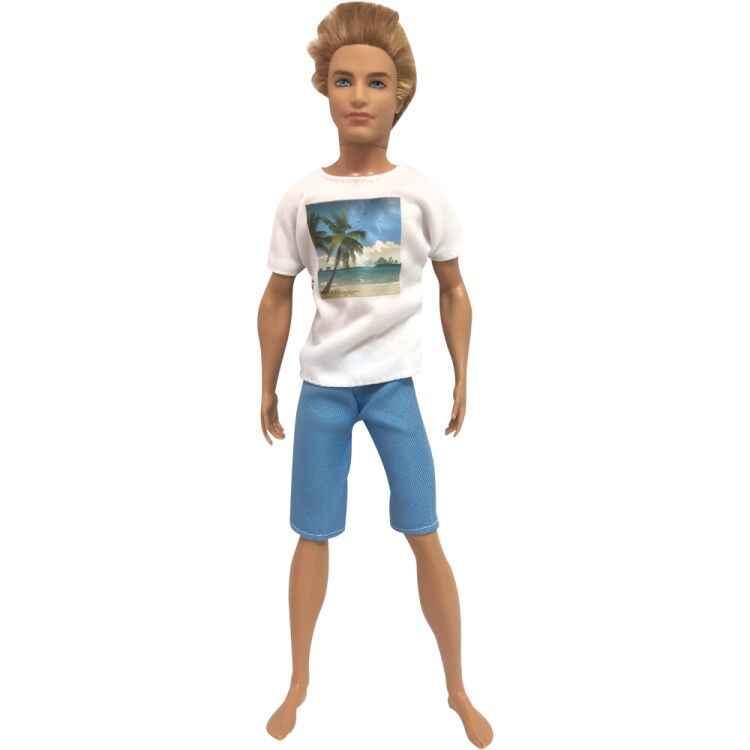 NK 2019 Prince ตุ๊กตาสบายๆทำด้วยมือเสื้อผ้าแฟชั่นชุดสำหรับตุ๊กตาบาร์บี้ตุ๊กตาเด็ก Firend สำหรับ Ken ตุ๊กตาของเล่นของเล่นเด็กของขวัญ hot 001B