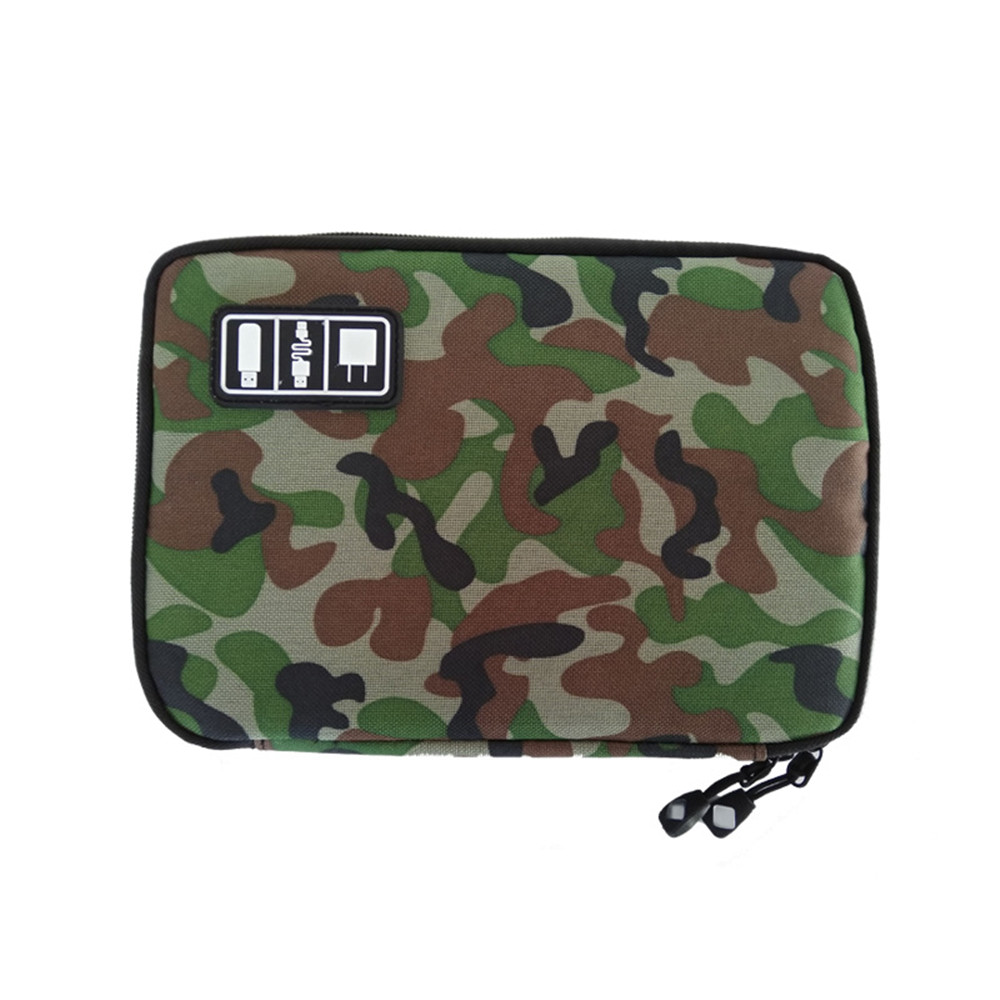 Camo Data cable Waterproof Travel Digital Storage Mobile Phone Accessories Headset Charger Organizer Bag in Storage Bags from Home Garden