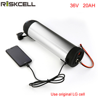 36V 500W ebike lithium battery 36V 20Ah Electric Bike Bottle battery LG cell li ion Battery with BMS + Charger