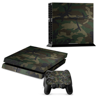 2015 New And High Quality Camouflage Style Skin Sticker Cover For Sony Playstation 4 For PS4