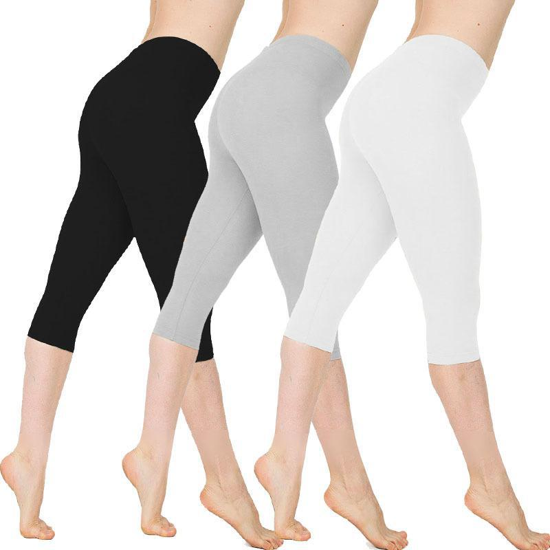 Leggings women cotton High Quality pants Fitness Breathable High Waist Sport Workout Elastic Slim Pants Plus Size Femme Push Up in Leggings from Women 39 s Clothing