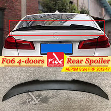 F06 Tail Spoiler Wing FRP Unpainted Black AEPSM Style For BMW 4-doors 640i 640d 650iGC Rear Trunk Lip 2012-2017