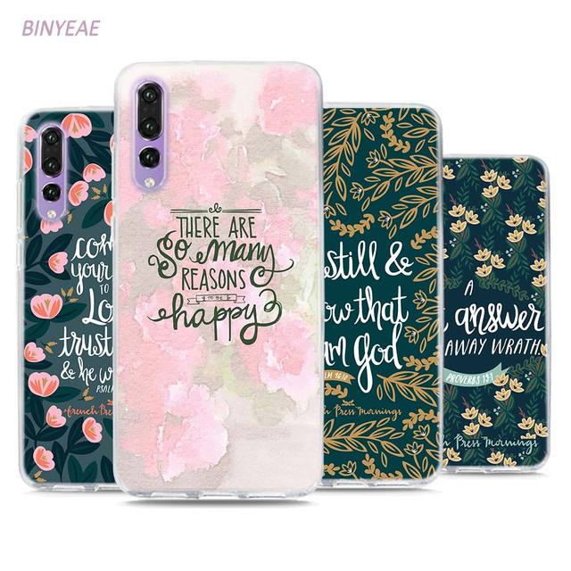 finest selection 3dcfc 0cf51 US $1.79 30% OFF|BINYEAE Bible verse Philippians Jesus Christ Christian  Style Clear Soft TPU Phone Cases for Huawei P20 Lite Honor 9 8 Lite 7X  6A-in ...
