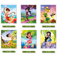 Cantoon Fairy Puzzle Resin Material Wooden Frame Early Learning Toys Handmade Puzzles For Children Girl Jigsaws
