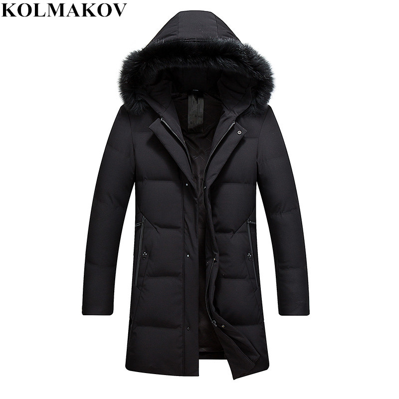 NEW Winter   Down     Coats   men Fur Hooded   Coats   mens Parkas slim fit thicken Jackets homme casual good quality   coats   Plus Size M-3XL