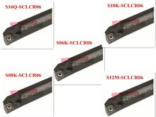5 uds. CCMT060204 + 5 uds 6 8 10 12 16mm SCLCR torno torneado soporte Barra de perforación inserto para Semi-acabado S06/S08/S10/S12/S16-SCLCR06