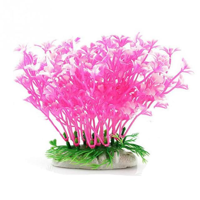 Hot Fish Tank Aquarium Decor Dwarf Plastic Flower Design With ...