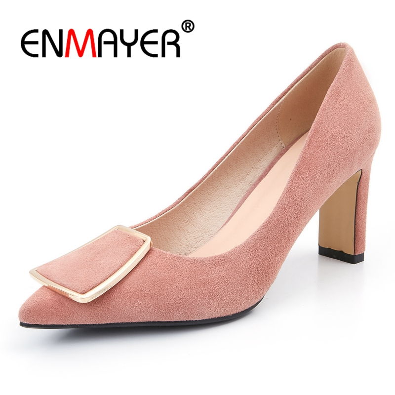 ENMAYER   Rubber  Thin Heels  Pointed Toe  Women Shoes  Zapatos Mujer Tacon  High Heel Shoes Size 34-40 ZYL2456ENMAYER   Rubber  Thin Heels  Pointed Toe  Women Shoes  Zapatos Mujer Tacon  High Heel Shoes Size 34-40 ZYL2456