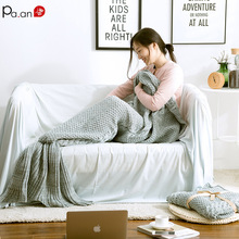 P Winter Warm Blanket Knitted Mermaid Tail  Gravity Mink Blankets 100% Acrylic Anti-pilling