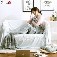 Pa.an Winter Warm Blanket Knitted Mermaid Tail Blanket Gravity Blanket Mink Blankets 100% Acrylic Anti pilling