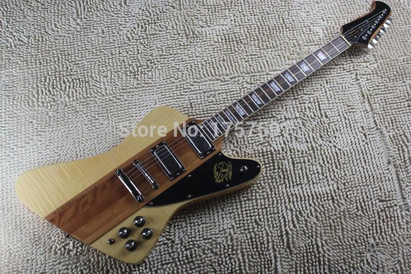Free shipping High Quality one-piece set neck Firebird Thunderbird IV burlywood electric guitar guitar explorer custom guitar