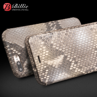 QIALINO Genuine Leather Fashion Flip Case For IPhone 7 8 Custom Built Python Skin Phone Cover