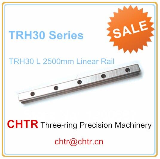 1pc TRH30 Length 2500mm Linear Slide Guideway Rail 28mm 1pc trh30 length 2500mm linear slide guideway rail 28mm