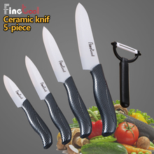 цена на Kitchen Knives Cook Set Ceramic Knives Black grid handle 3 4 5 6 inch Zirconia Ceramic White Blade Paring Fruit Vege Chef Knife