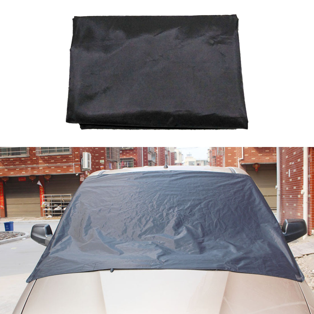 Car Sun Shield Magnet Windshield Cover Snow Ice Frost Freeze Protector Black Silver For VW /BMW /Honda /Toyota Dewtreetali
