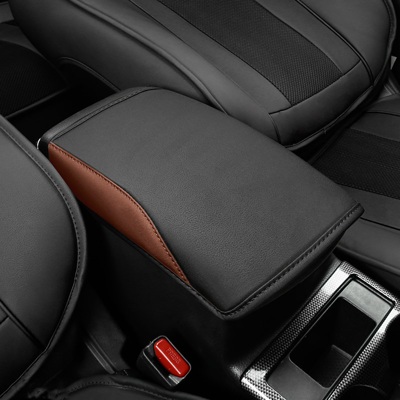 Fashionable Luxurious Leather Car Armrest Pad Cover Center