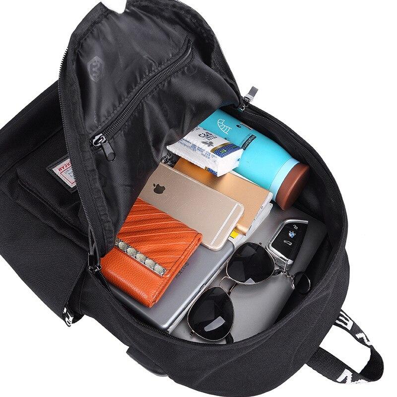 13afa7fc7 Laptop Mochila de Nylon de Carregamento USB Mochilas Escolares Mochilas  Lazer Para Adolescente mochila Escolar masculino Cinza Preto em Mochilas de  Bolsas e ...
