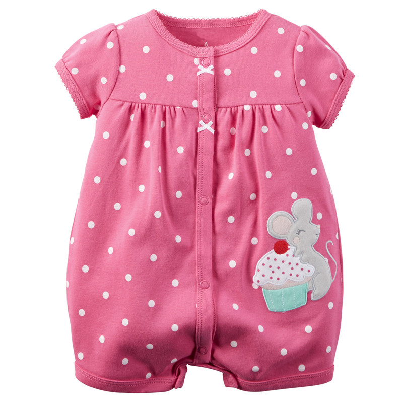 Baby Rompers Summer Baby Girl Clothes 2017 Baby Girl Dress Cotton Newborn Baby Clothes Roupas Bebe Infant Jumpsuits Kids Clothes цена
