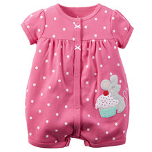 Baby Rompers Summer Baby Girl Clothes 2017 Baby Girl Dress Cotton Newborn Baby Clothes Roupas Bebe Infant Jumpsuits Kids Clothes(China)