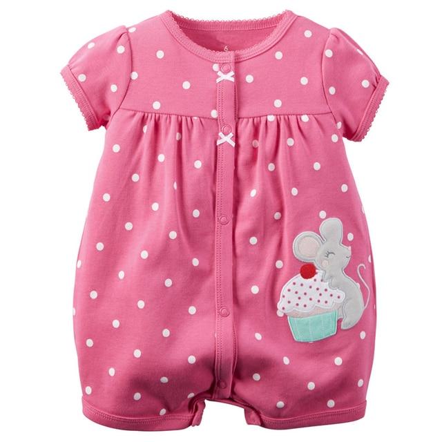 Mamelucos del bebé del verano del bebé ropa 2017 algodón recién nacido baby girl dress ropa de bebé bebe roupas infantil del mono de los niños