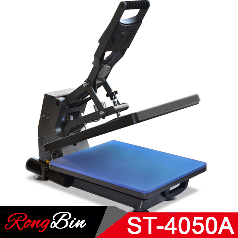 ST-4050A 40x50CM Sublimation Heat Press Machine T-shirt Transfer Press Machine for Phone Case/Bag/Puzzle/Rock/Glass/Wood Photo 1 pc 2200w image heat press machine for t shirt with print area available for 38 cm x 38 cm
