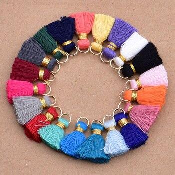 Mini cotton Tassels Small Tassels for boho jewelry making Supplies 1