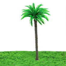 16cm miniature Architecture Plastic Palm Tree Model Miniature scale for sea scenery