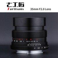 7 ремесленников 35 мм F2.0 полный кадр объектива для микро одной камеры E Mount FX крепление Canon M Mount A7II AA7RII A7SII A6500 X A10 X A2 M5