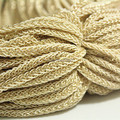 Free Shipping 10feet Flat Spun Gold Braided Bracelet Cord, 6mm Necklace Cord, Jewelry Findings