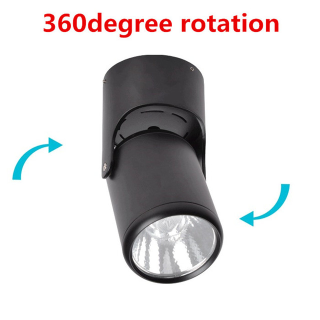 10W 20W Super Bright Spot light 180 Degree Rotation Ceiling Lamp LED Spot Down Light AC85-265V Led Downlights Surface Mounted