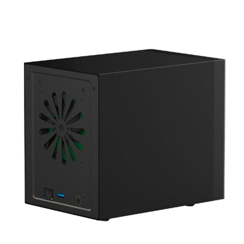 Boîtier HDD 3.5 Gigabit Ethernet NAS boîtier HDD intelligent pour disque dur 3.5 ''Interface Gigabit Ethernet disque d'accès à distance Nas