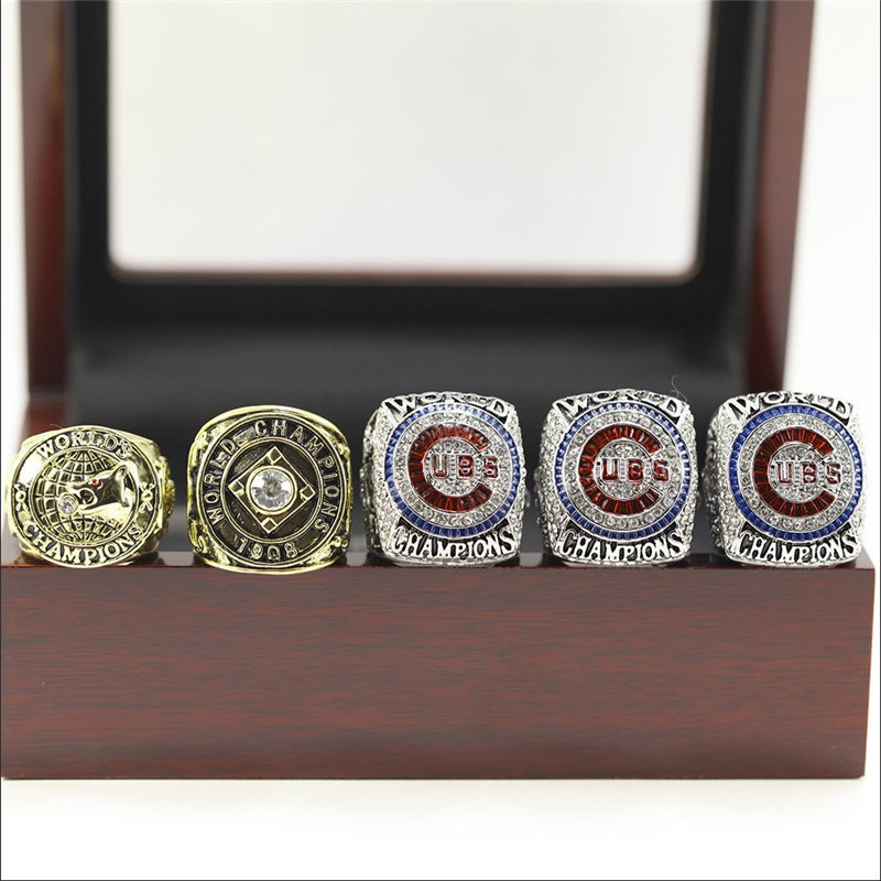 Classic New Zinc Alloy Championship Ring Chicago Cubs 1907 2016 2016 Annual Champion Ring Men and Women Fans Memorial Gifts vintage diamante turtle embellished alloy ring for men and women