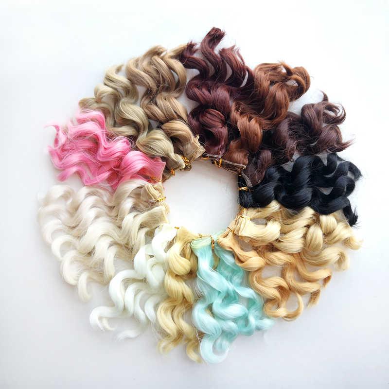 Msiredoll bjd peluca accesorios 1 pieza 15*100CM pelo de muñeca para 1/3 1/4 1/6 1/12 muñeca con pelo rizado bjd peluca diy envío gratis