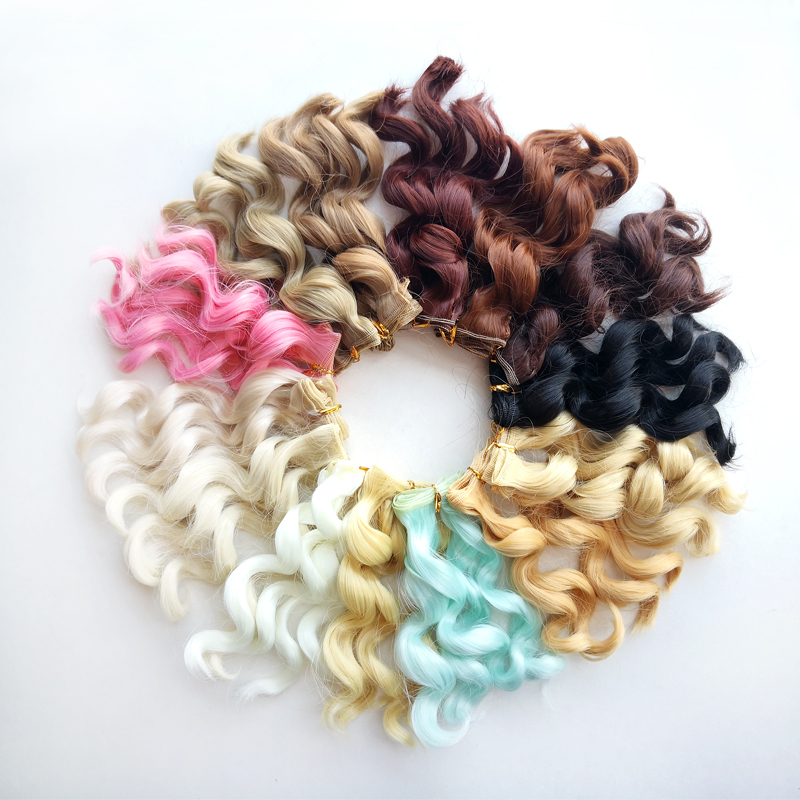 Msiredoll Bjd Wig Accessories 1piece 15*100CM Doll Hair For 1/3 1/4 1/6 1/12  Curly Doll Hair Bjd Wig Diy Free Shipping