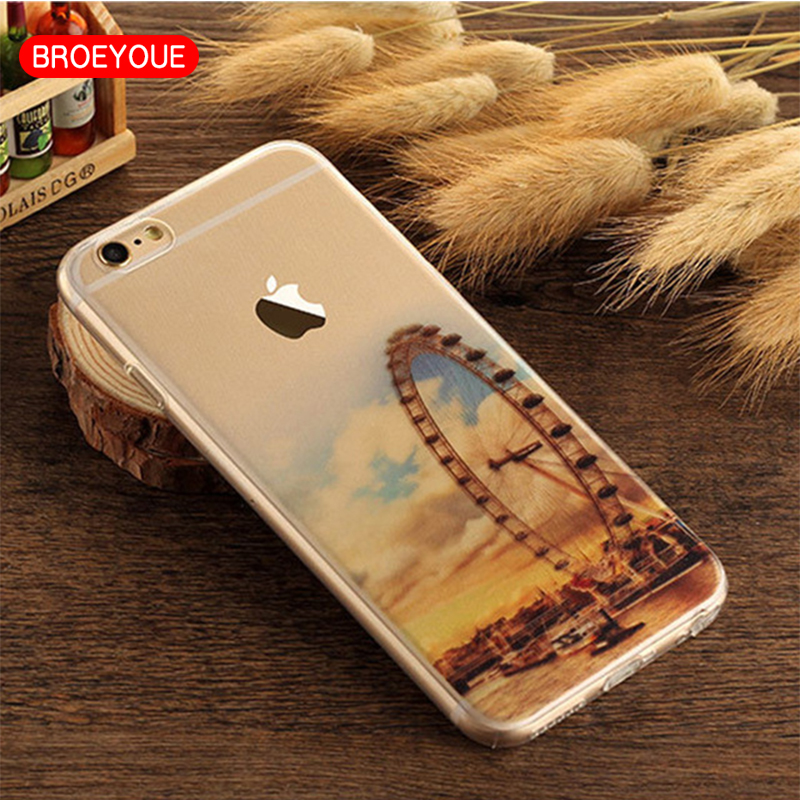 Cases for iPhone 6 Case 6s 6plus 5s 5 SE Pattern Soft Silicone Cover Case for iPhone 7 7 Plus for Smartphone Wholesale/Retail
