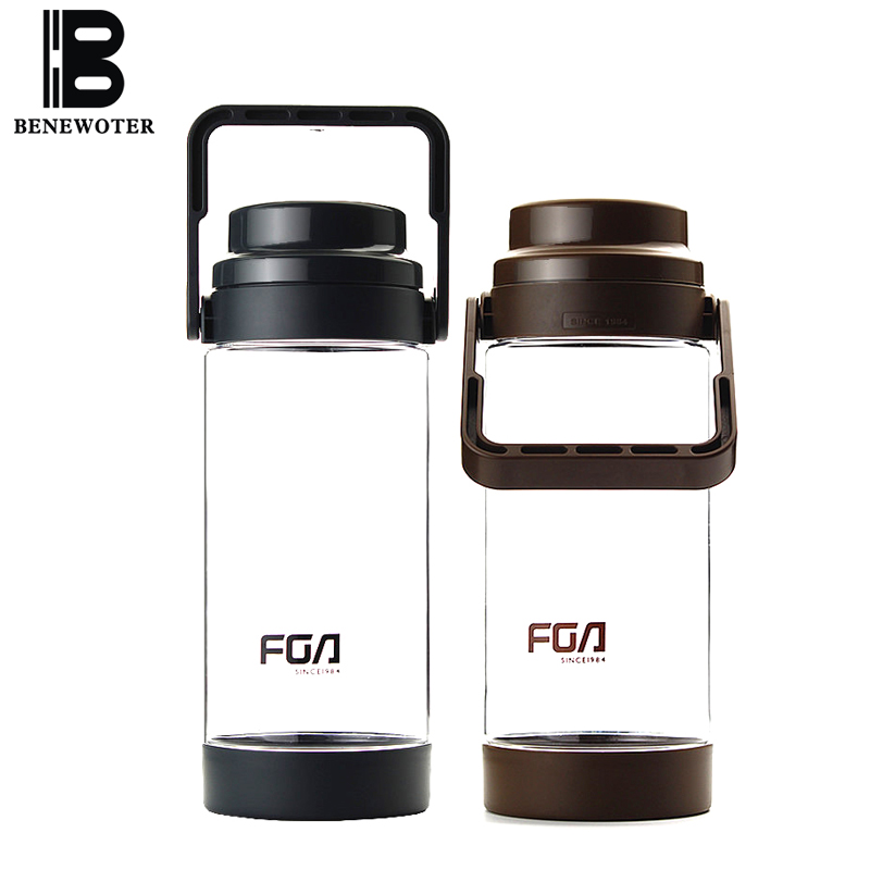 1500ml Portable Outdoor Sport Large Capacity Space Water Bottle Plastic Bottle  Anti Dropping Tea Kettle with Filter Drinkware
