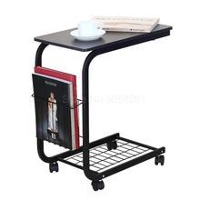 Мини-кровать для гостиной, передвижной диван, маленький угловой столик, несколько Сторон, ленивый журнальный столик, Простой ремень, колесо