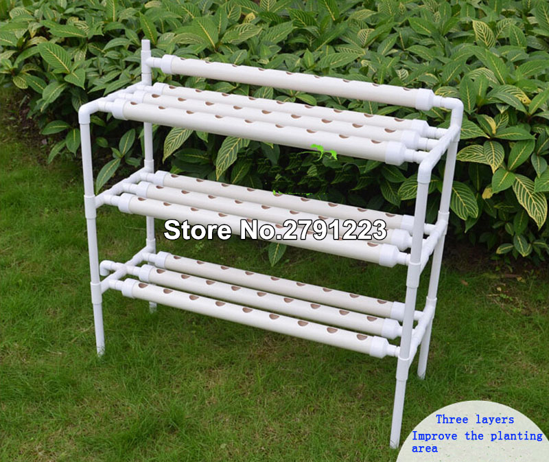 Hydroponic Site Grow Kit 90 Site System with Nest Basket Water Pump and Sponge Plant Site