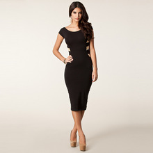 Vestidos De Fiesta Robe Summer Dress New Package Hip Large Size Women Sexy Slim Pencil Cross Nightclub In The Long Backless