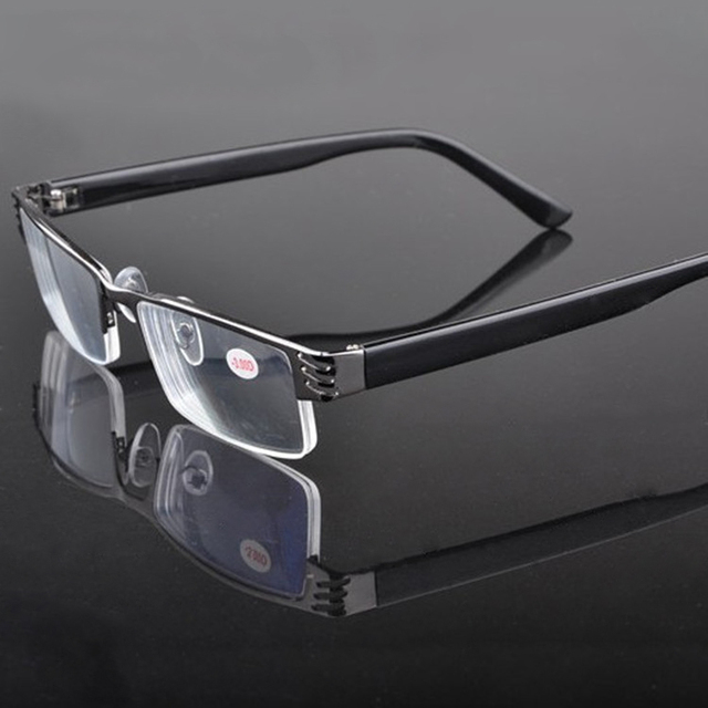 Metal Half Frame Reading Glasses Presbyopia Spectacles 1.0 to 4.0 PC Temples Fatigue Gafas +1.0 +1.5 +2.0 +2.5 +3.0 +3.5 +4.0