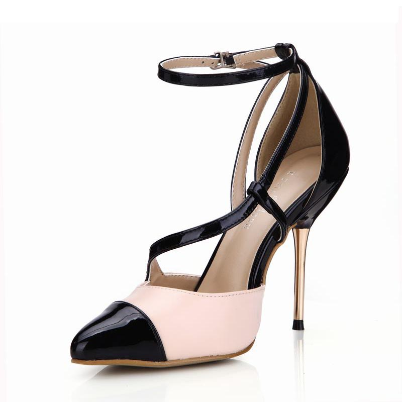 Sexy high heels women shoes woman wedding valentine party dress pumps shoes zapatos mujer tacon buckle pointed toe mixed colors plus size sexy high heels women pumps pointed toe woman ladies party valentine dress wedding shoes tenis feminino zapatos mujer