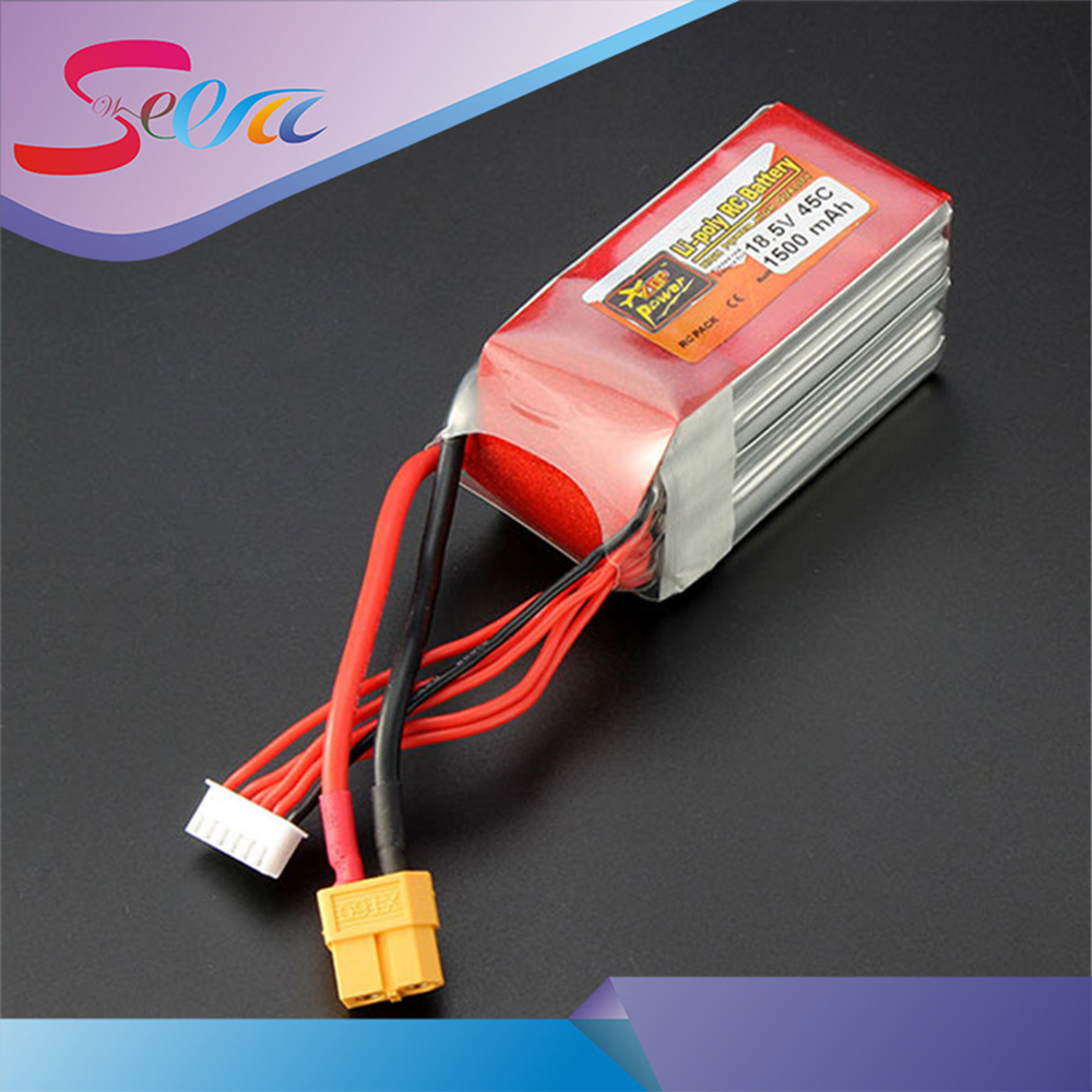 4pcs Hot New ZOP Power 18.5V 1500mAh 5S 45C Lipo Battery XT60 T Plug Rechargeable Lipo Battery RC Helicopter For RC Helicopter