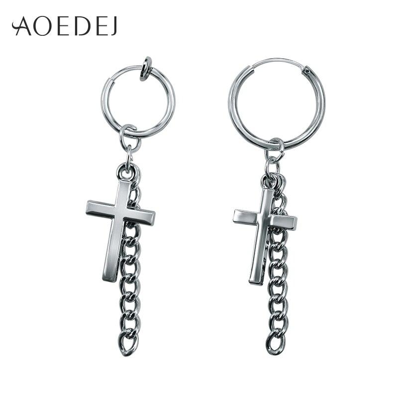 Купить маленькие серьги кольца aoedej с крестом для мужчин и женщин