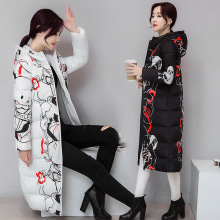2016 Promotion Real Polyester Slim Autumn Winters Cotton-padded Clothes Girls Fashion Long Big Yards Hooded Jacket Coat Female