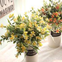 1 Pcs Artificial Flowers Bouquet Plastic Grass Spring Plants Bridal Bouquets Of Artificial Flower Plants For