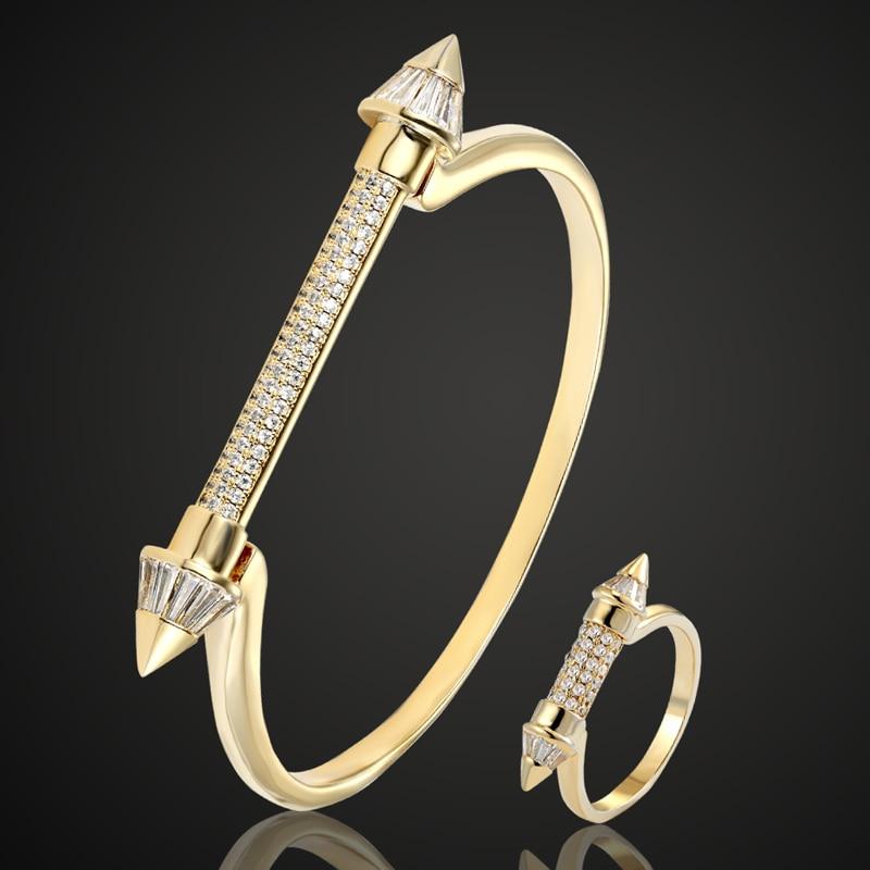 Perfect cubic Zircon bangle Jewelry For Women Bridal Jwelry Copper Bangle Pulseira Women zirconia Love Bangle