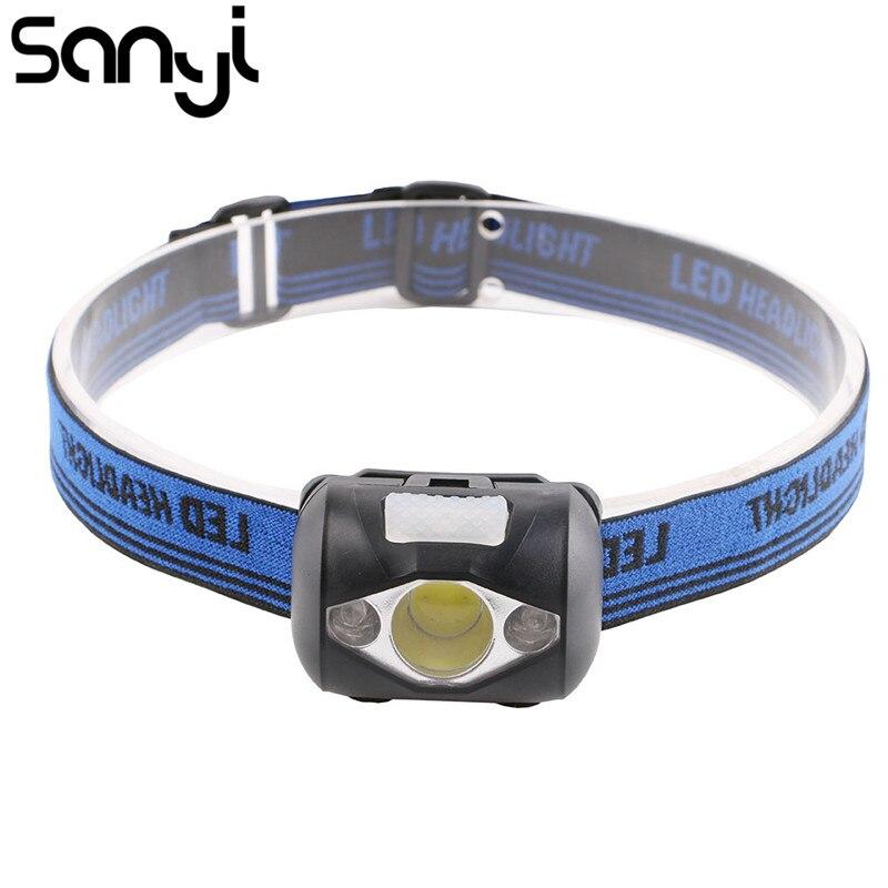 SANYI Mini LED Scheinwerfer Regendicht Scheinwerfer Kopf Taschenlampe Outdoor Camping Kopf Licht Lampe Taschenlampe Laterne Power durch AAA Batterie