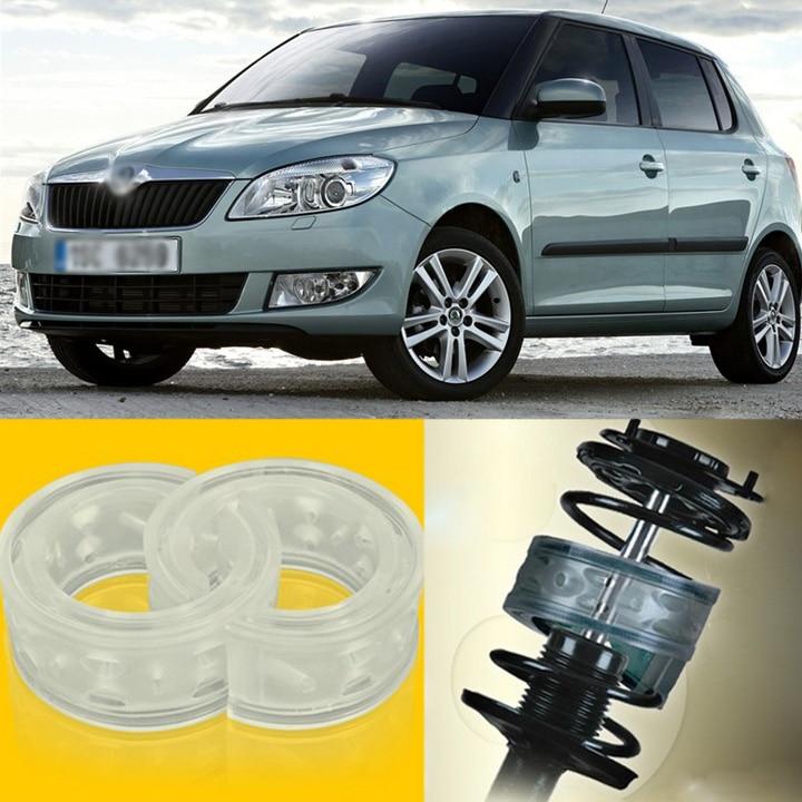 2pcs Power Front /Rear Shock Suspension Cushion Buffer Spring Bumper For Skoda Fabia