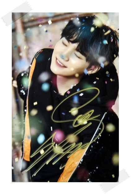 BTS SUGA autographed signed original photo You Never Walk Alone  4*6 inches korea  freeshipping  02.2017