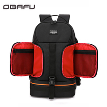 OBAFU DSLR Waterproof Shockproof Shoulders Camera Backpack Tripod Case Reflector Stripe fit Laptop Bag for Canon Nikon Sony a1771579a mbx 225 m980 fit for sony vpcec laptop motherboard hm55 mbx225 1p 009cj00 8011